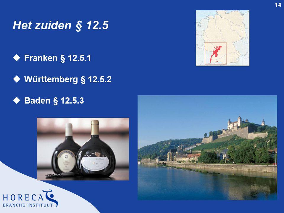 Het zuiden § 12.5 Franken § 12.5.1 Württemberg § 12.5.2 Baden § 12.5.3