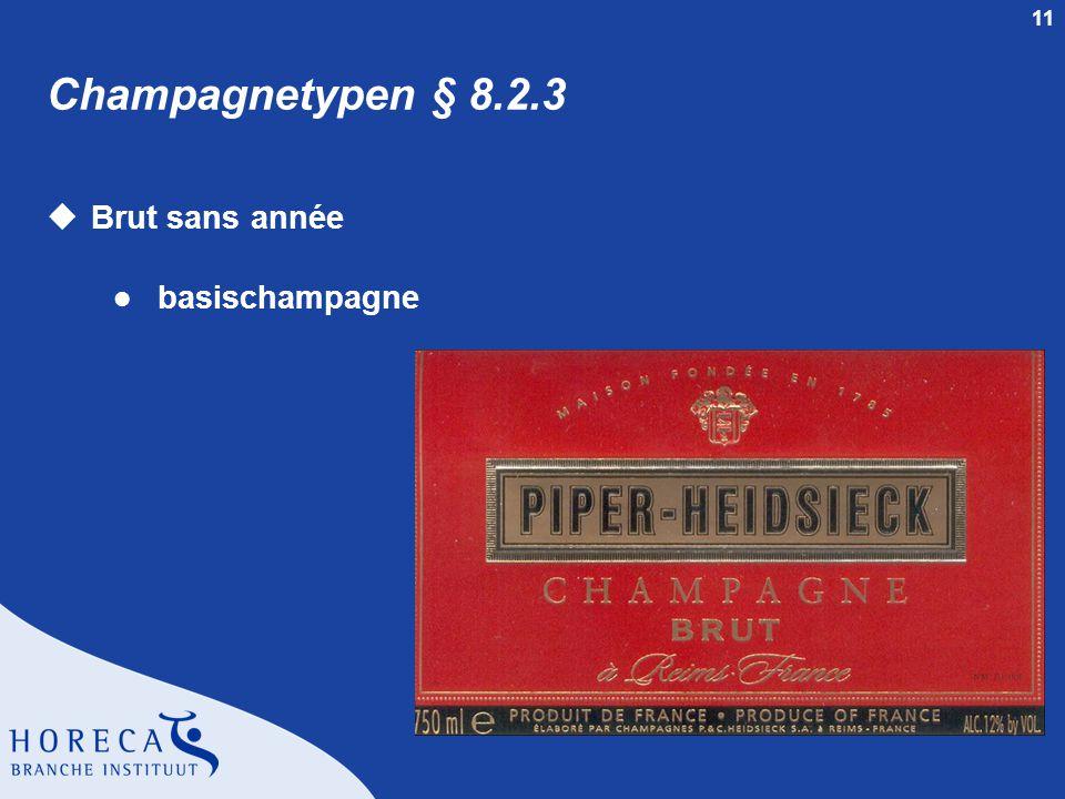 Champagnetypen § 8.2.3 Brut sans année basischampagne