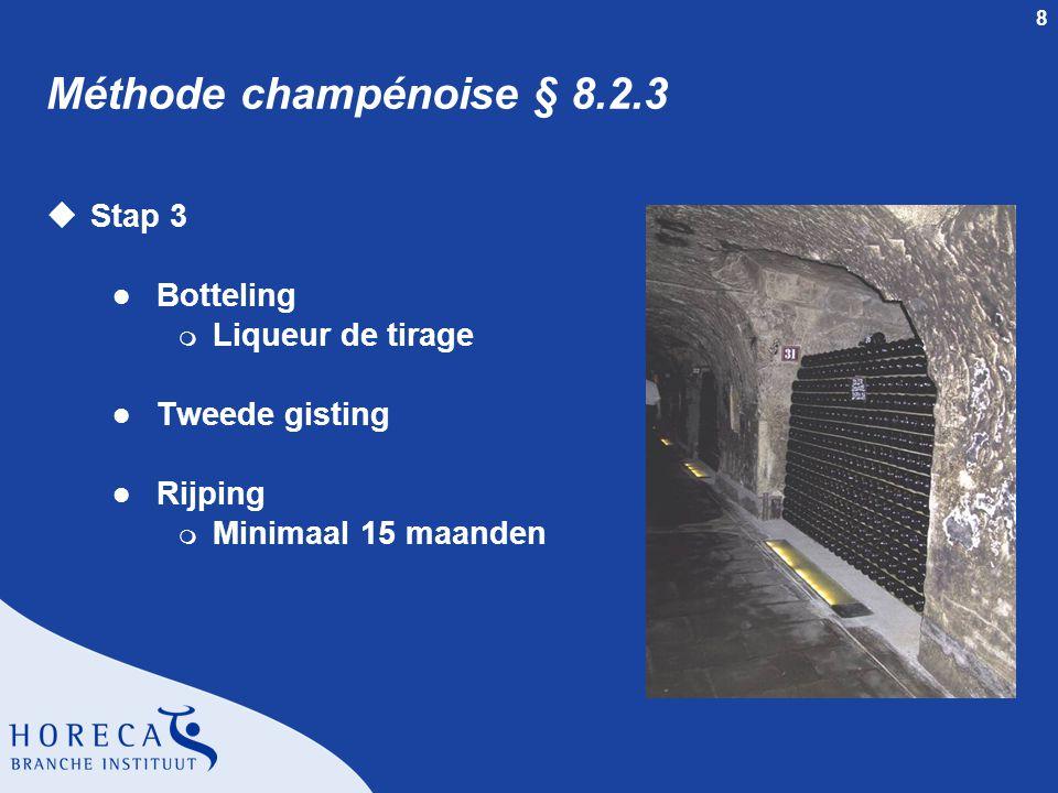 Méthode champénoise § 8.2.3 Stap 3 Botteling Liqueur de tirage