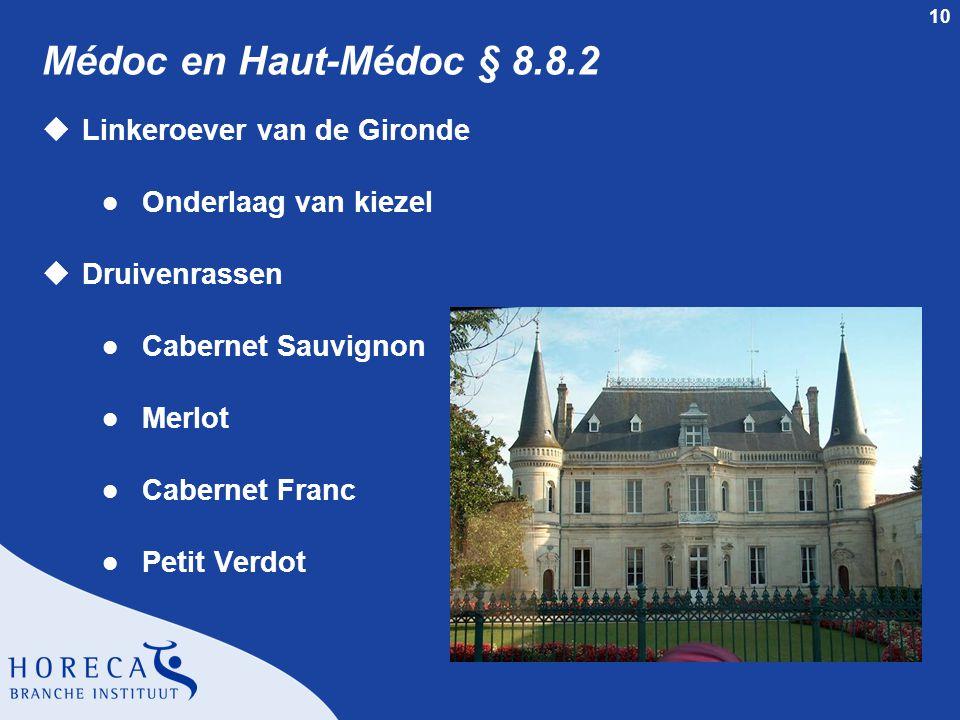 Médoc en Haut-Médoc § 8.8.2 Linkeroever van de Gironde