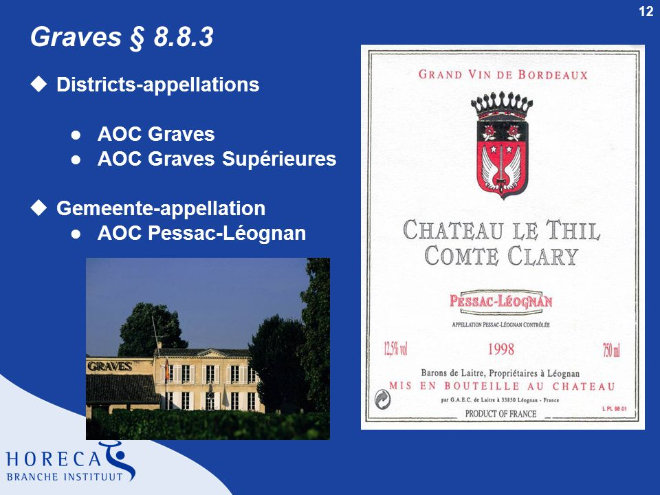 Graves § 8.8.3 Districts-appellations AOC Graves