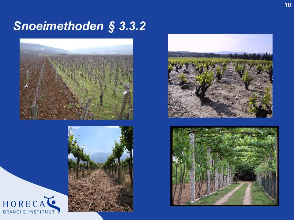 Snoeimethoden § 3.3.2 Docentenhandleiding SVH Wijncertificaat - dia 10