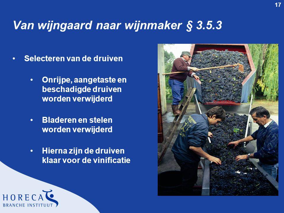 Van wijngaard naar wijnmaker § 3.5.3