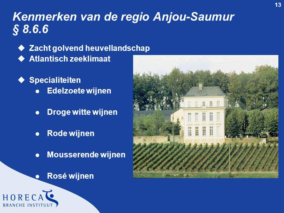 Kenmerken van de regio Anjou-Saumur § 8.6.6