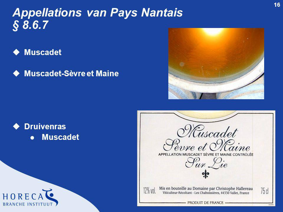 Appellations van Pays Nantais § 8.6.7