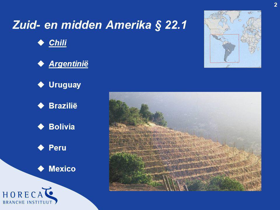 Zuid- en midden Amerika § 22.1