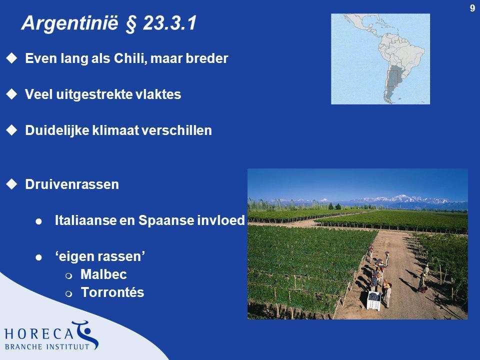 Argentinië § 23.3.1 Even lang als Chili, maar breder