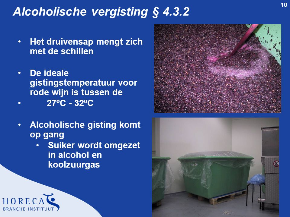 Alcoholische vergisting § 4.3.2