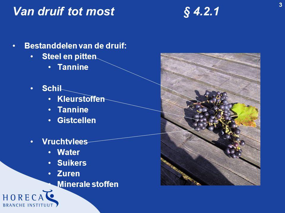 Van druif tot most § 4.2.1 Bestanddelen van de druif: Steel en pitten