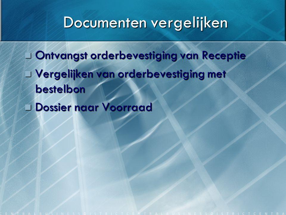 Documenten vergelijken
