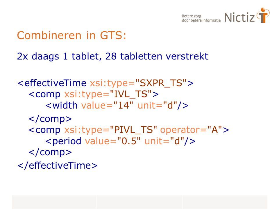 Combineren in GTS: