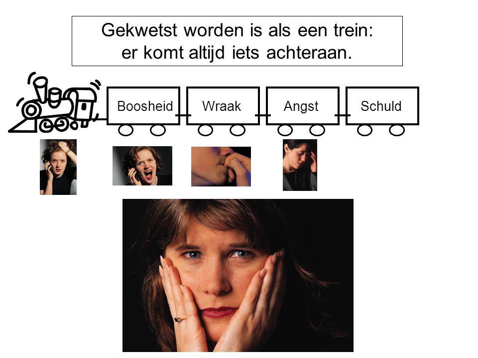 Gekwetst worden is als een trein: er komt altijd iets achteraan.