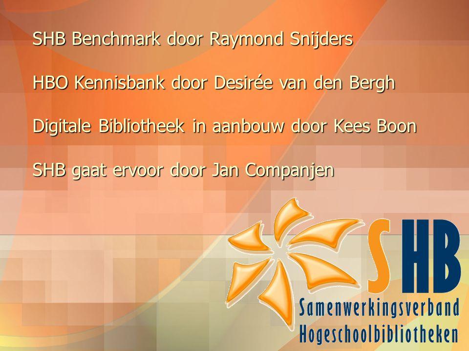 SHB Benchmark door Raymond Snijders