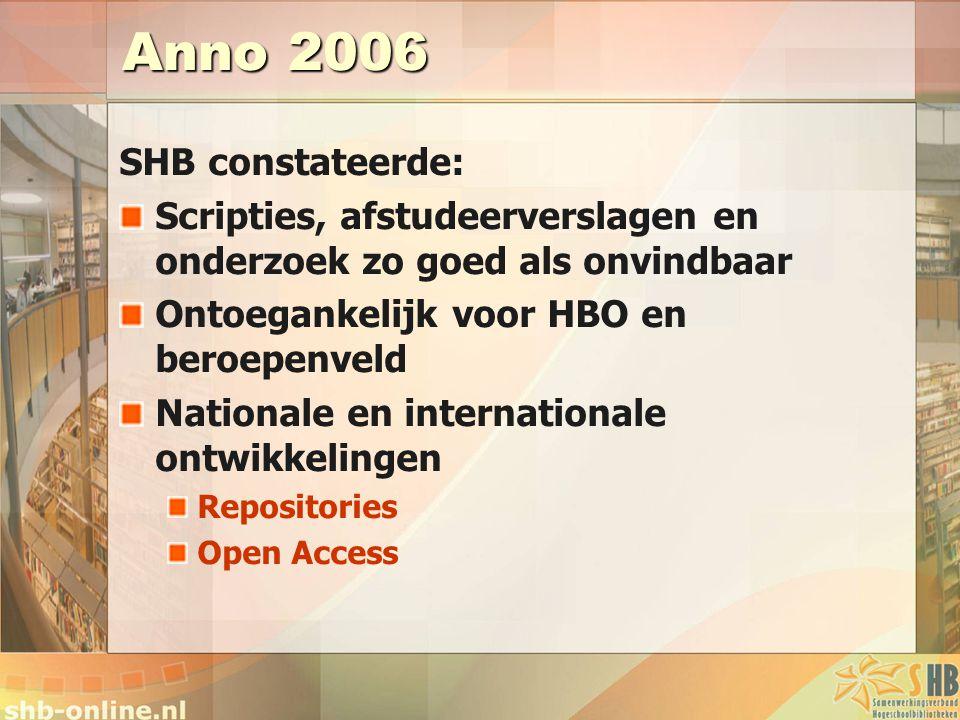 Anno 2006 SHB constateerde: