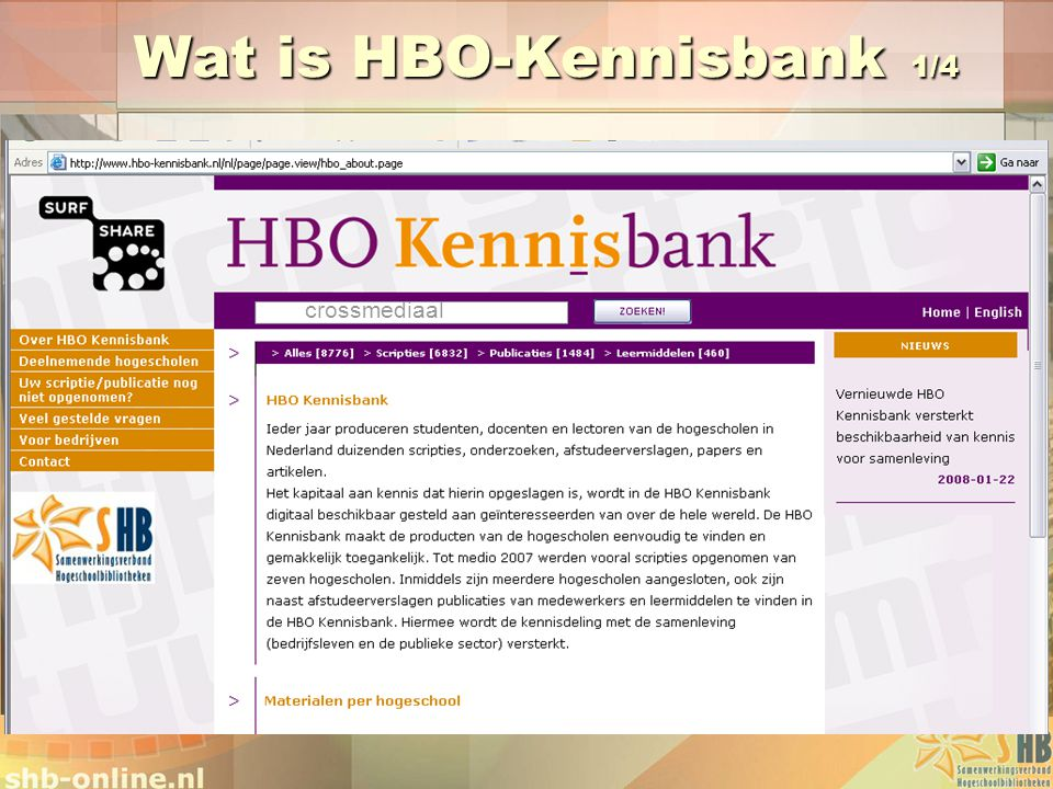 Wat is HBO-Kennisbank 1/4