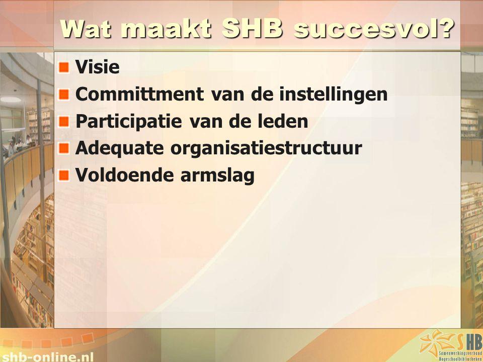 Wat maakt SHB succesvol