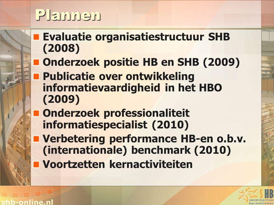 Plannen Evaluatie organisatiestructuur SHB (2008)