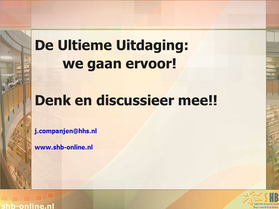 Denk en discussieer mee!!