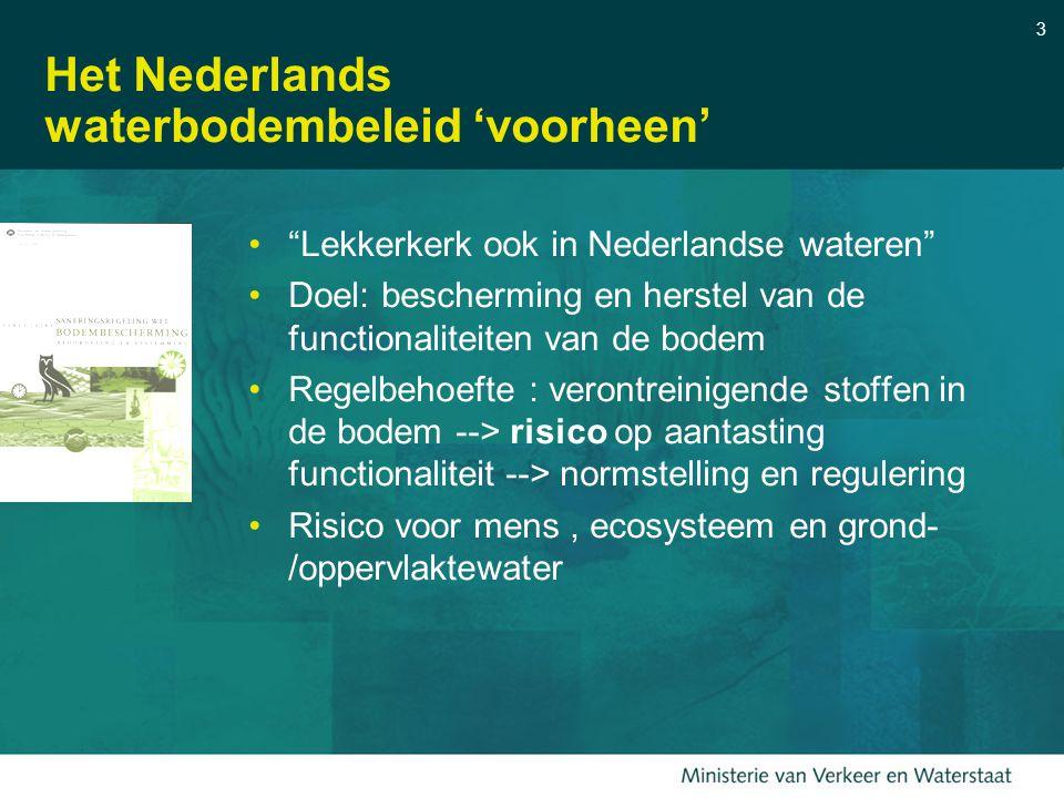 Het Nederlands waterbodembeleid 'voorheen'