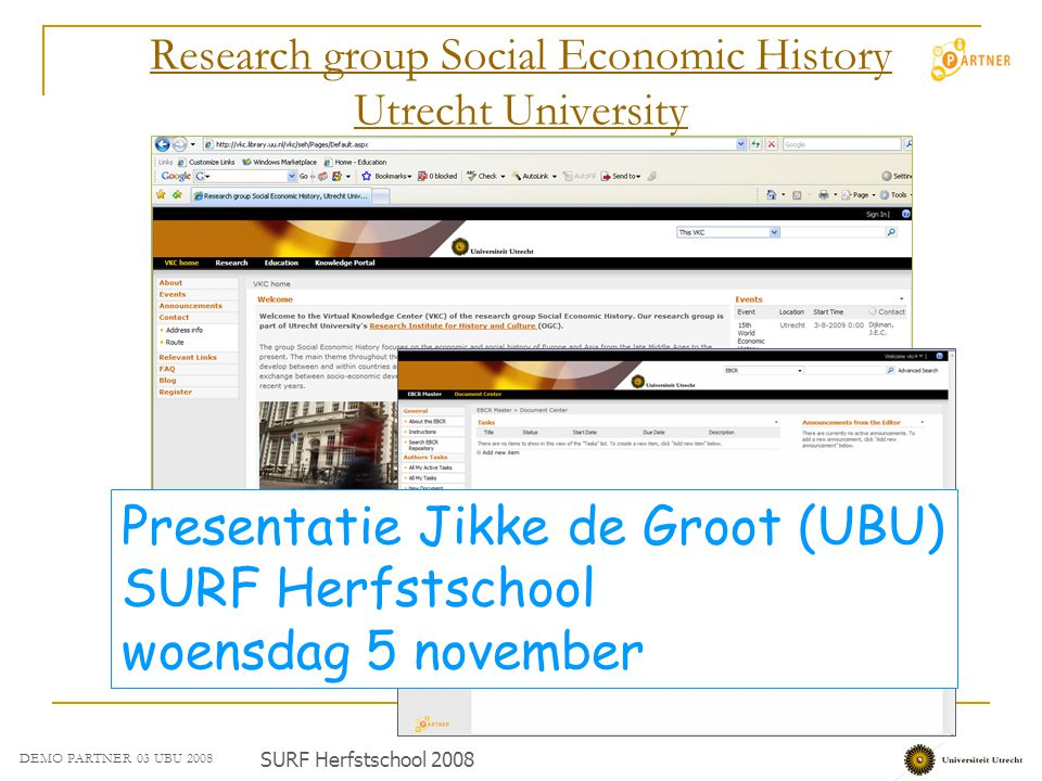 Research group Social Economic History Utrecht University