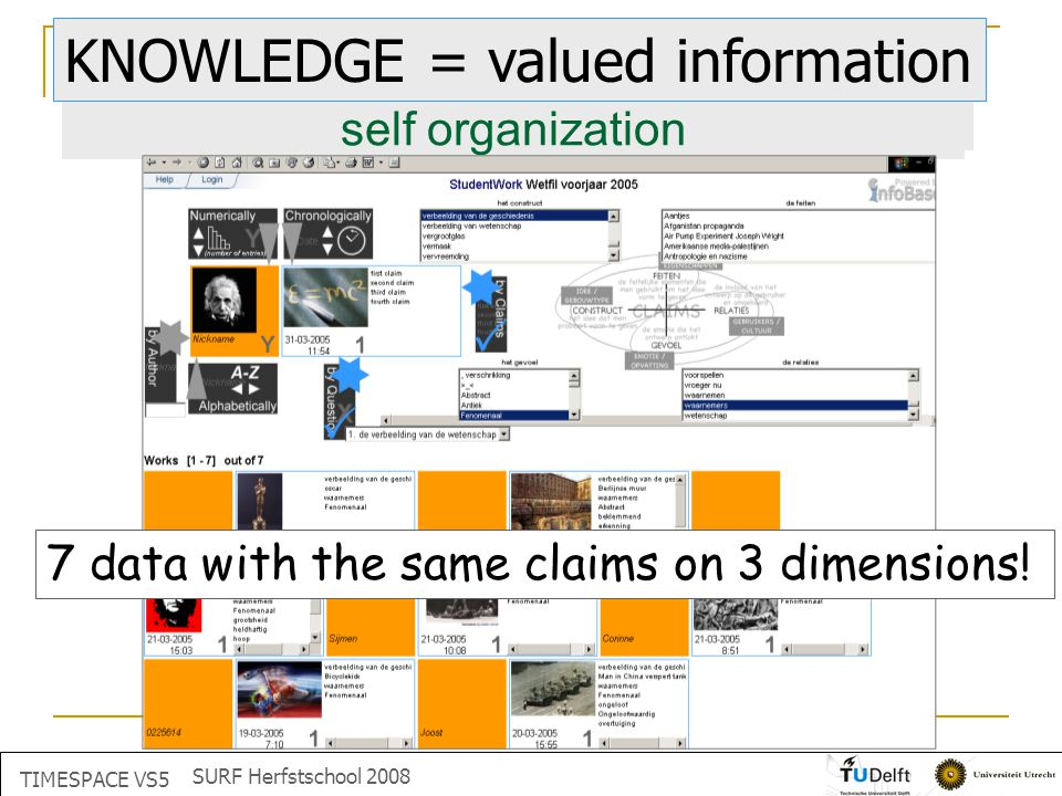 correspondence CHAOS what is this KNOWLEDGE = valued information