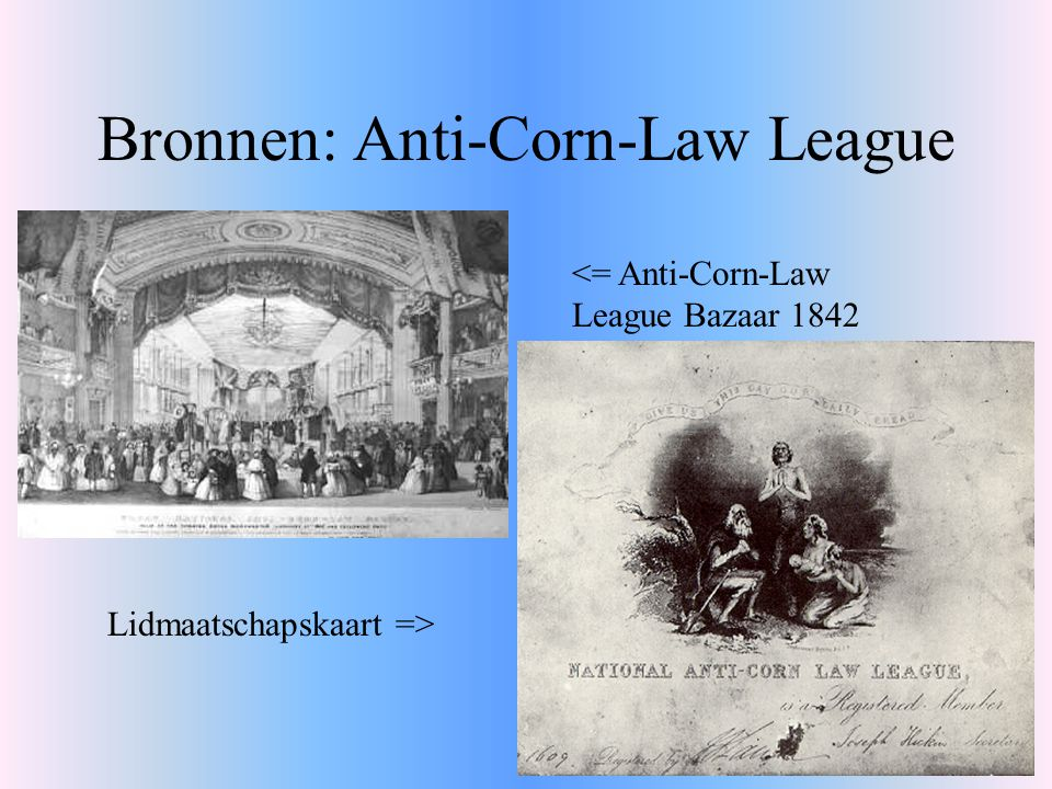 Bronnen: Anti-Corn-Law League