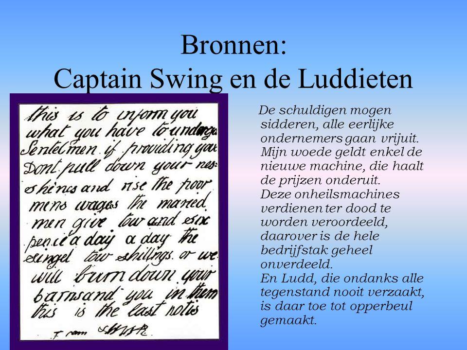 Bronnen: Captain Swing en de Luddieten