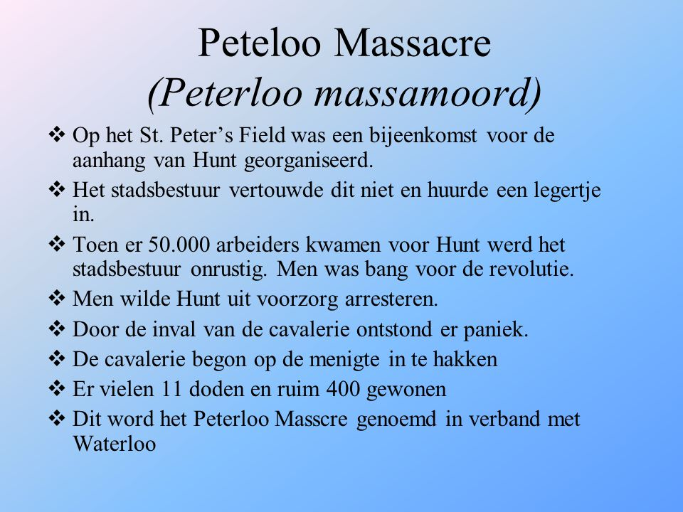 Peteloo Massacre (Peterloo massamoord)