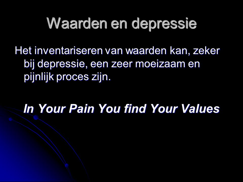 In Your Pain You find Your Values