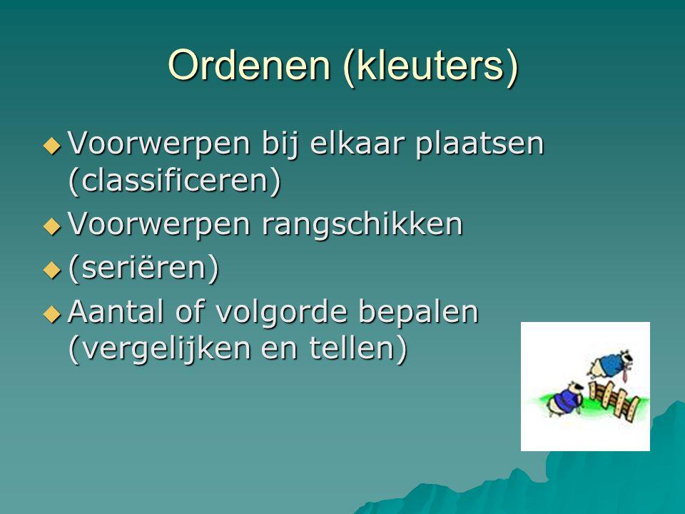 Ordenen (kleuters) Voorwerpen bij elkaar plaatsen (classificeren)