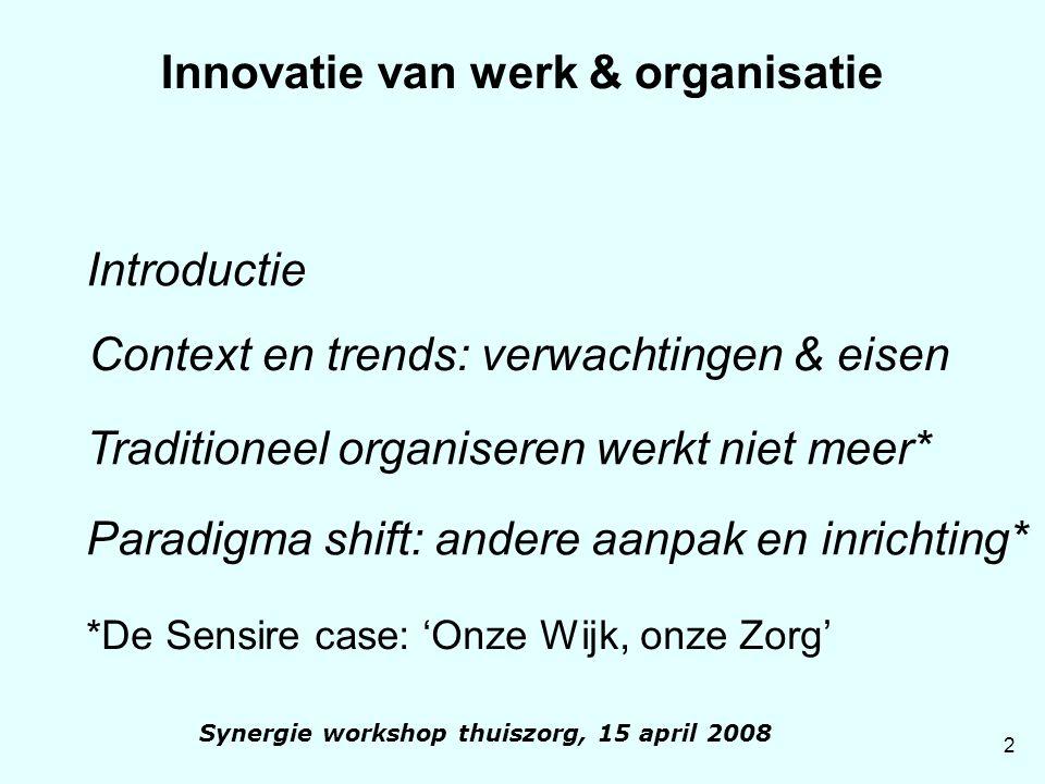 Innovatie van werk & organisatie