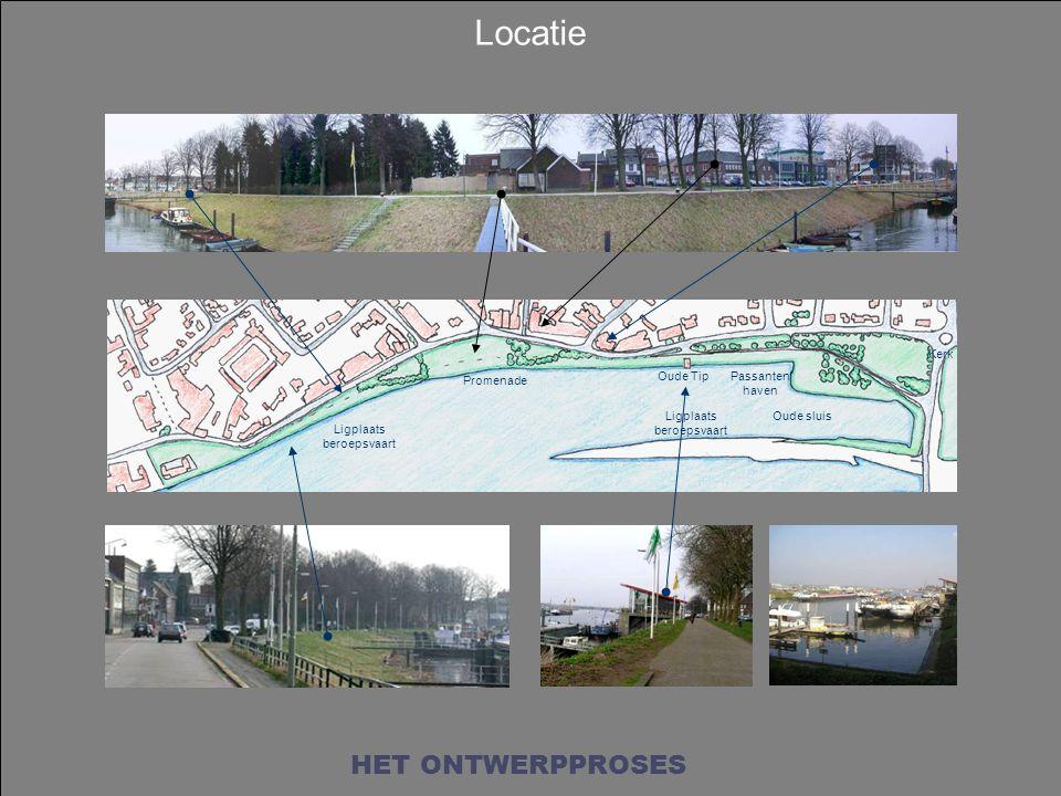Locatie HET ONTWERPPROSES Kerk Promenade Oude Tip Passanten haven