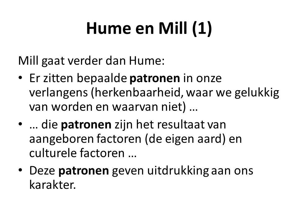 Hume en Mill (1) Mill gaat verder dan Hume: