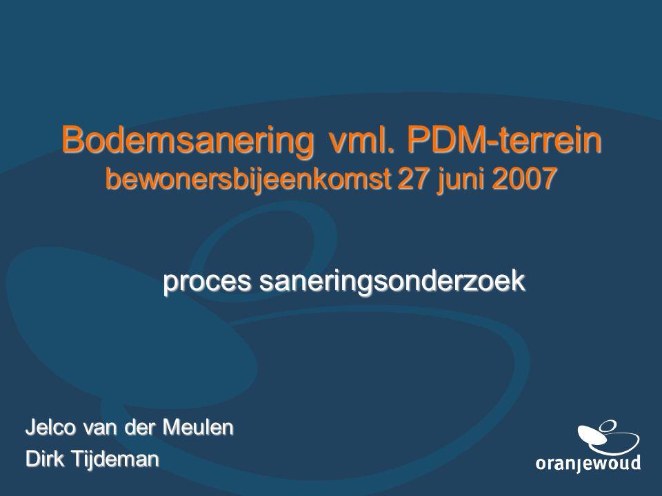 Bodemsanering vml. PDM-terrein bewonersbijeenkomst 27 juni 2007