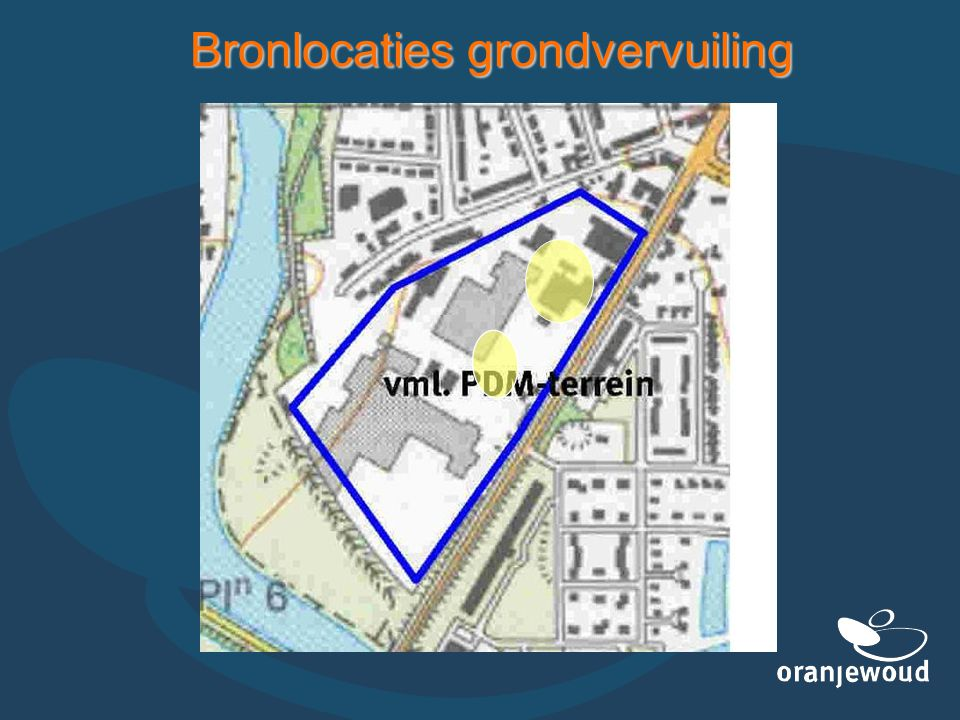 Bronlocaties grondvervuiling