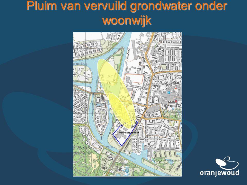 Pluim van vervuild grondwater onder woonwijk