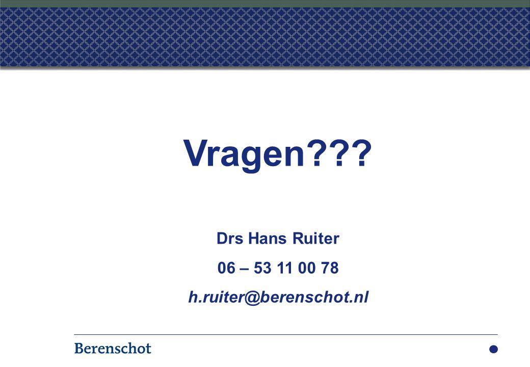 Vragen Vragen Drs Hans Ruiter 06 – 53 11 00 78