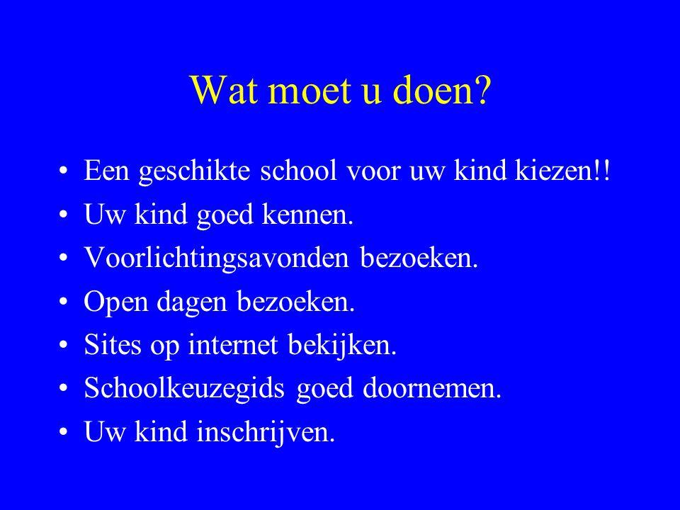 Wat moet u doen Een geschikte school voor uw kind kiezen!!