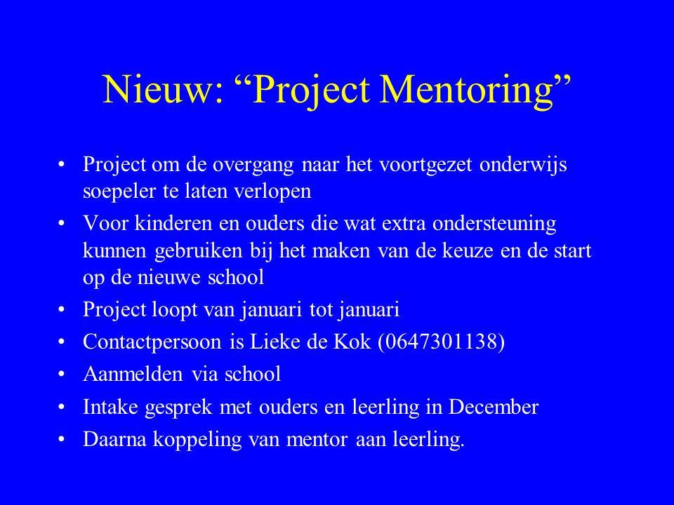 Nieuw: Project Mentoring