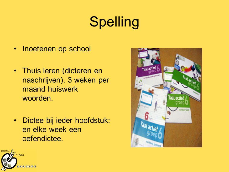 Spelling Inoefenen op school