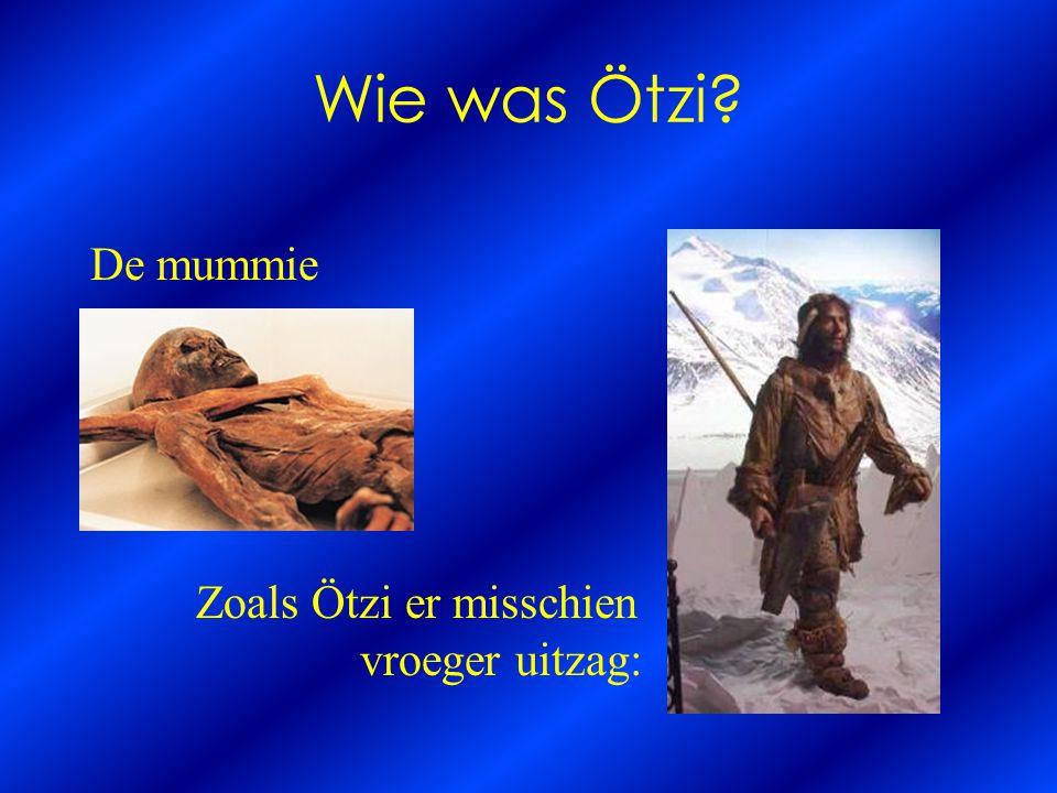 Wie was Ötzi De mummie Zoals Ötzi er misschien vroeger uitzag: