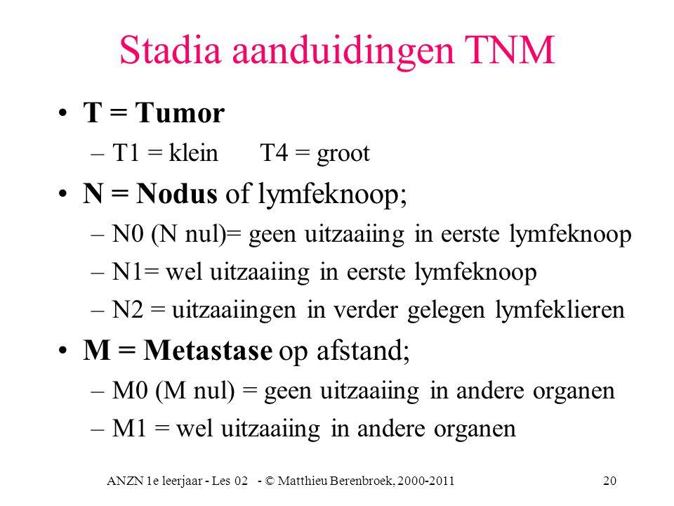 Stadia aanduidingen TNM