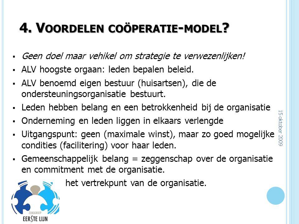 4. Voordelen coöperatie-model