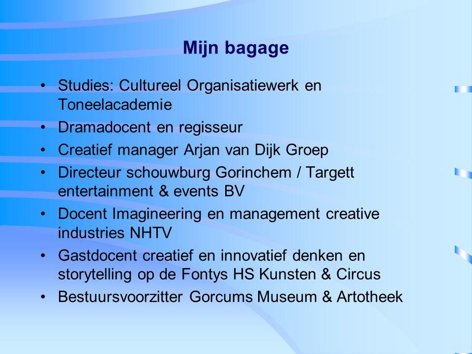 Mijn bagage Studies: Cultureel Organisatiewerk en Toneelacademie