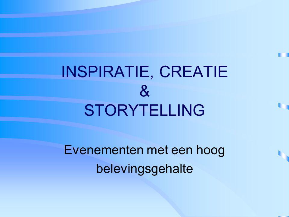 INSPIRATIE, CREATIE & STORYTELLING