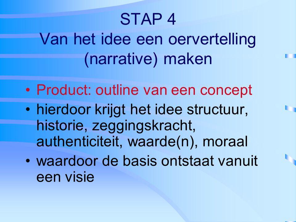 STAP 4 Van het idee een oervertelling (narrative) maken