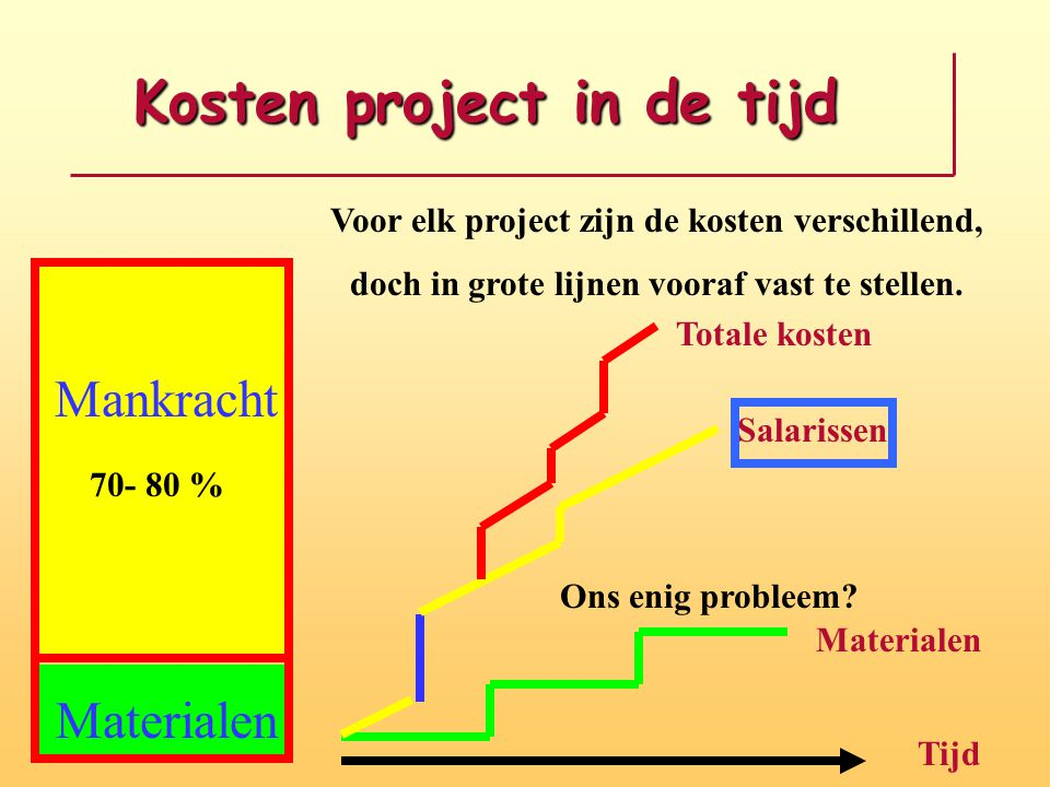 Kosten project in de tijd
