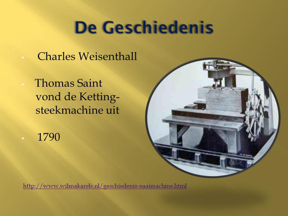 De Geschiedenis Charles Weisenthall Thomas Saint vond de Ketting-