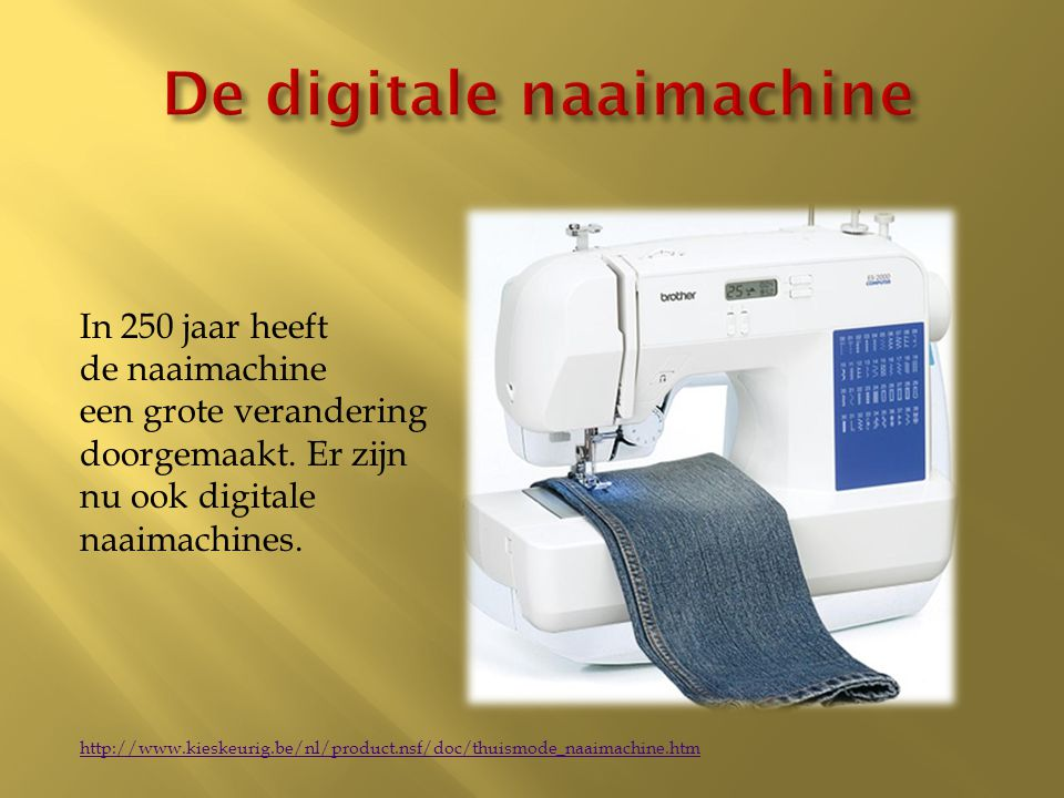 De digitale naaimachine