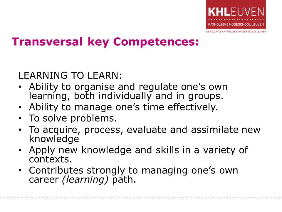 Transversal key Competences:
